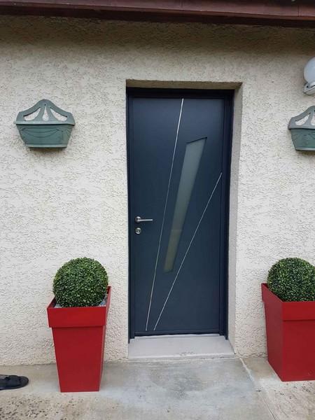 Porte Entr E Aluminium Fuseau Kline D Cines Menuiserie